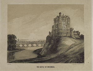 Siege of Inverness (1746) - Picture of Inverness Castle dated 1745 - 1746