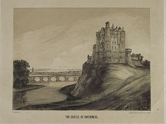 Inverness Castle - Historic view of Inverness Castle