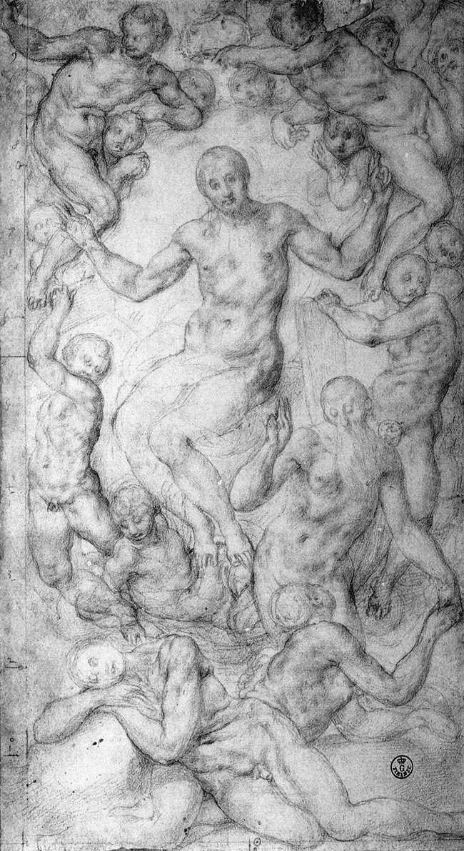 Jacopo Pontormo - Christ the Judge with the Creation of Eve - WGA18134