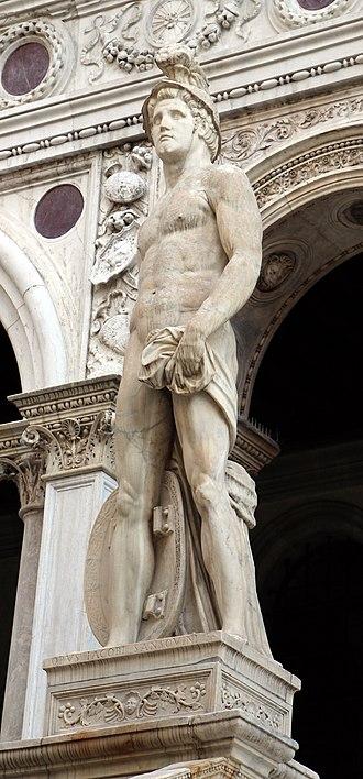 Jacopo Sansovino - Image: Jacopo sansovino, marte, 1554, 01