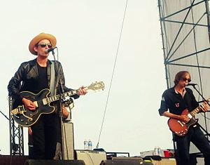 The Wallflowers - Jakob Dylan and Stuart Mathis of the Wallflowers performing in Minnesota in 2014