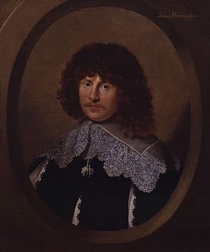 Rota Club - Portrait of James Harrington, oil on canvas, ca.1635.