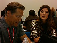 James Remar (Harry Morgan) e Jennifer Carpenter (Debra Morgan).
