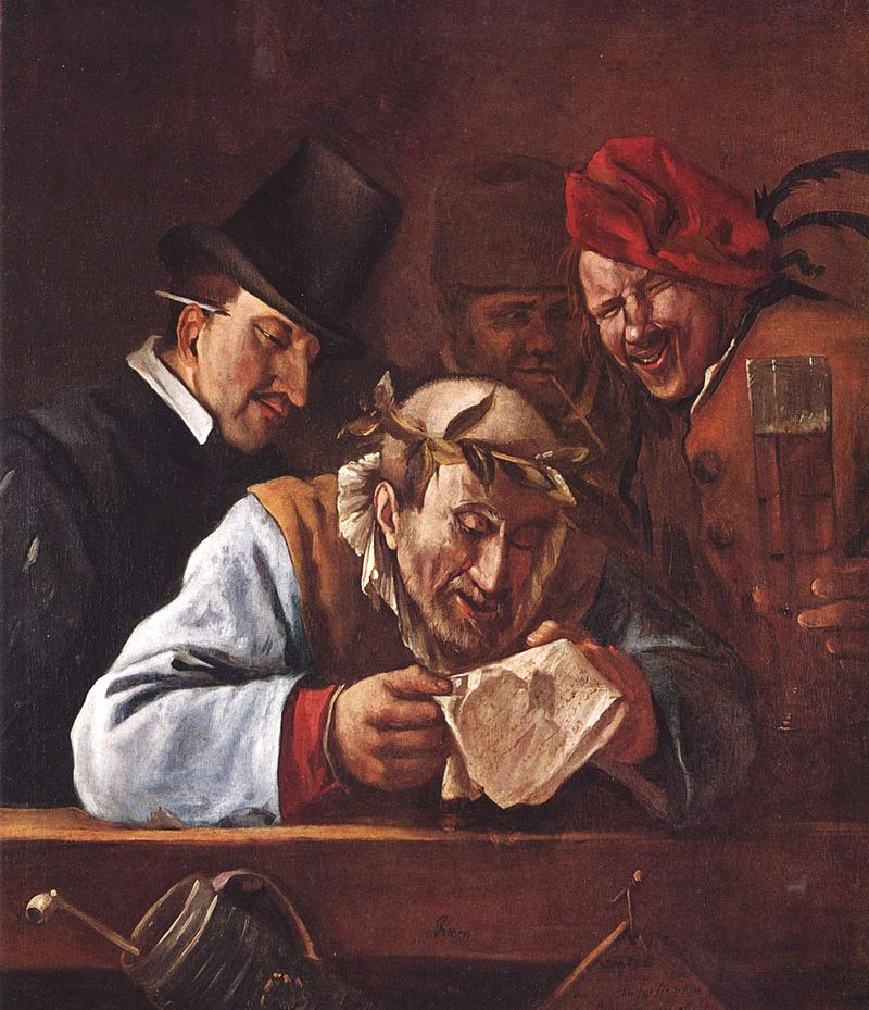 Jan Steen, The Crowned Orator, c. 1650-1675, Alte Pinakothek, Munich, Germany.