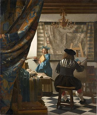 Composition (visual arts) - The Art of Painting by Jan Vermeer