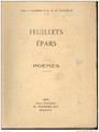 Jane du Barrois et R. H. de Villemar - Feuillets épars - poèmes - 1931.png