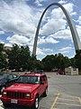 Jeep Cherokee (XJ) Limited red Gateway Arch 1.jpg