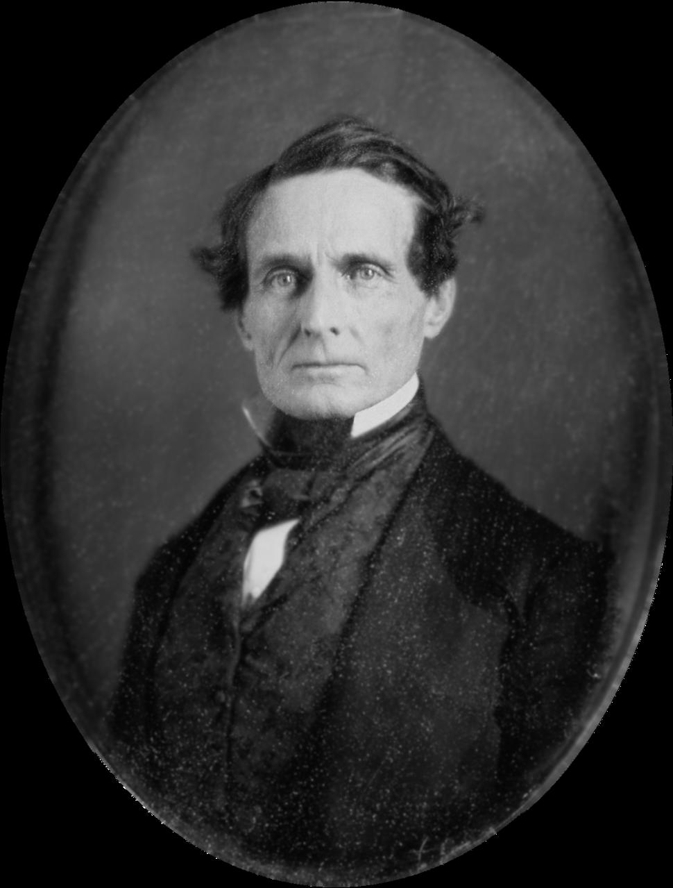 Jefferson Davis 1853 daguerreotype-restored