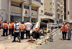 2008 Jerusalem bulldozer attack - Damage caused by the attack