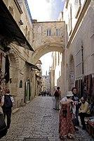 Jerusalem Via Dolorosa BW 6.JPG