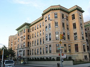 Crown Heights, Brooklyn - The former Jewish Hospital of Brooklyn, now an apartment house