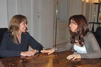 Trinidad Jiménez - Trinidad Jiménez (left) with the (at the time) first lady of Argentina, Cristina Fernández de Kirchner.