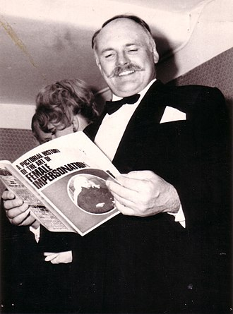 Guinea Pig Club - The comedy actor Jimmy Edwards, a member of the club: he grew his trademark handlebar moustache in order to camouflage his facial injuries