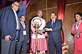 """Jitendra Singh and the Chief Minister of Uttarakhand, Shri Trivendra Singh Rawat lighting the lamp during the Valedictory Session of the two-day 26th Regional Conference on """"Good Governance and Replication of Best Practices"""".jpg"""