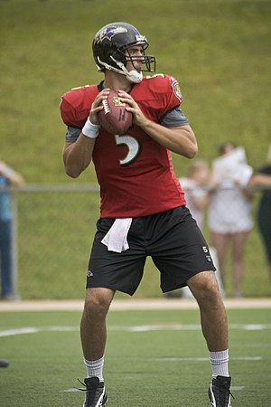 Rookie # 5 Joe Flacco in Ravens Training Camp ...