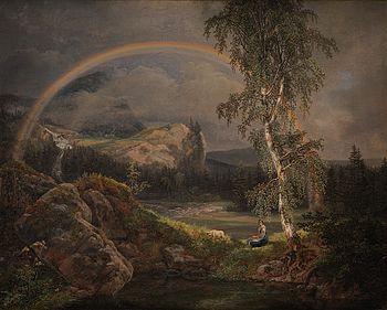 Johan Christian Clausen Dahl - Norsk landskab med en regnbue - Statens Museum for Kunst - KMS550.jpg