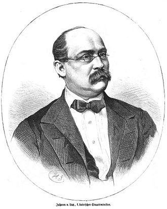 Münnerstadt - Johann von Lutz in 1871
