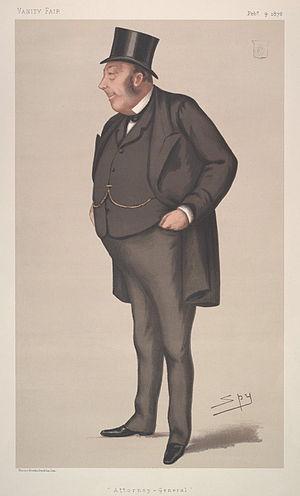 John Holker - Caricature from Vanity Fair, 1878