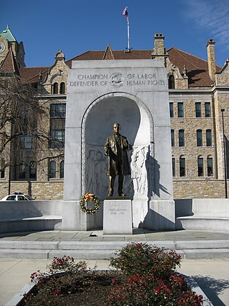 Lackawanna County Courthouse and John Mitchell Monument - John Mitchell Monument