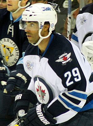 Johnny Oduya - Oduya with the Winnipeg Jets in 2012