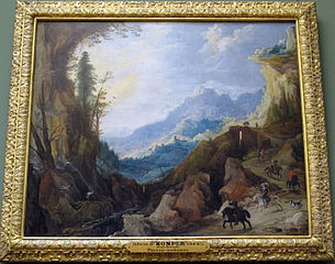 Mountainous Landscape with a Bridge and Four Horsemen