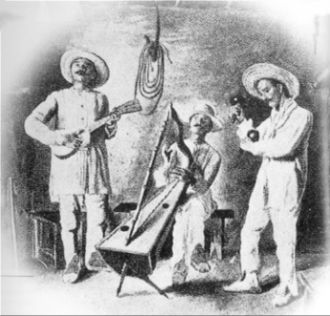 Music of Venezuela - Venezuelan Joropo. Drawing by Eloy Palacios (1912)