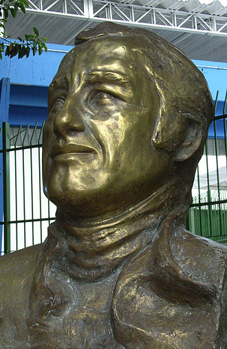 Autódromo José Carlos Pace - The bust of Carlos Pace in the circuit.