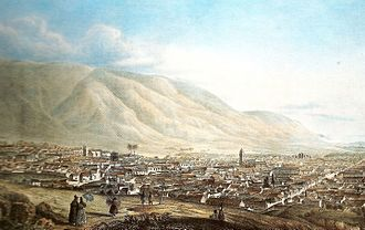 Caracas - Caracas, as painted by Joseph Thomas in 1839