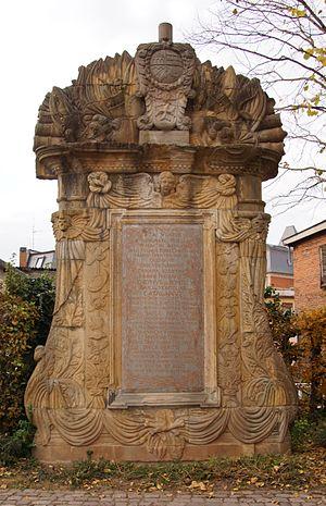 Joseph de Montclar - Memorial for Joseph de Pons et de Guimera, baron de Montclar, in Landau in der Pfalz (Germany)