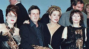 César Award - Josiane Balasko, Daniel Auteuil, Catherine Deneuve, and Karin Viard at the 2000 César Award Ceremony