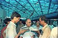 Journalists Interviewing Saroj Ghose - Dinosaurs Alive Exhibition - Science City - Calcutta 1995-06-15 138.JPG