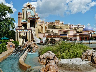 Water coaster (roller coaster) - Image: Journey To Altantis in Seaworld panoramio