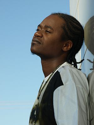 Jua Cali - Jua Cali in a photo shoot for his album, Ngeli ya Genge