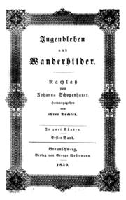 Cover of Schopenhauer's Jugendleben und Wanderbilder (Source: Wikimedia)