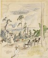 Jules Pascin - Landscape with Figures, Miami - BF1135 - Barnes Foundation.jpg
