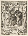 Juno summoning sleep to descend upon Jupiter, set within an elaborate frame, from the 'Loves, Rages and Jealousies of Juno' MET DP812642.jpg