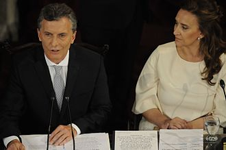 Republican Proposal - President Macri and Vicepresident Gabriela Michetti,in their Inauguration Ceremony in Argentine Parliament, in December 10, 2015.