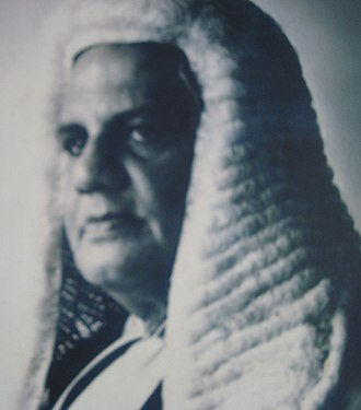 Supreme Court of Sri Lanka - Justice Manicavasagar in long wig and court dress