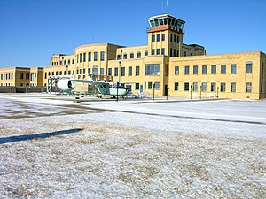 Kansas Aviation Museum - Southeast side of building