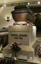 Kaiser Franz Joseph of Austria sarcophagus Kapuzinergruft Wien Vienna
