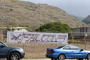 Kalani High School - Image: Kalani Falcons Equipment Container