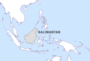 Map of Kalimantan (white color) and its subdivisions. NOTE THIS FIG MISLABELS EAST AND WEST KALIMANTAN