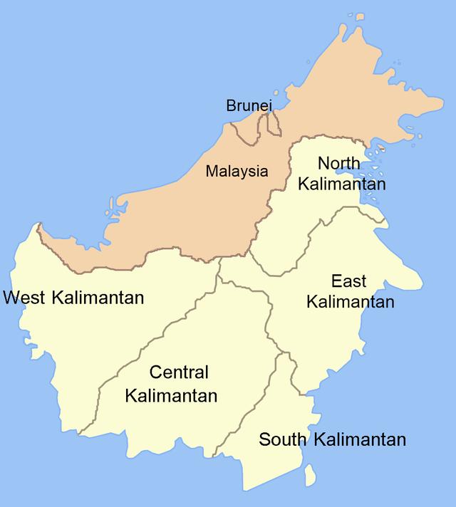 Region In West Kalimantan Central Kalimantan South Kalimantan East Kalimantan North Kalimantan Indonesia