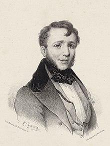 Porträt des Pianisten, Pädagogen und Unternehmers Friedrich Kalkbrenner, Stich von Auguste Marc Edmé Bry nach einer Zeichnung von Alphonse Farcy (Quelle: Wikimedia)