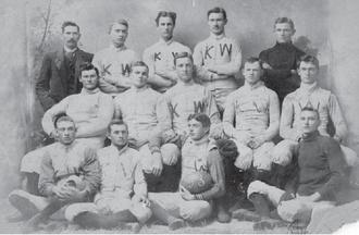 Kansas Wesleyan Coyotes - 1893 KW Football Team