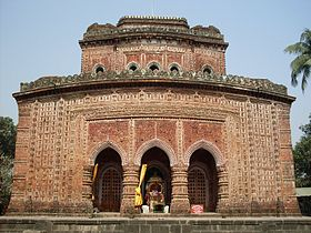 Kantanji's Temple fornt view in Dinajpur.jpg
