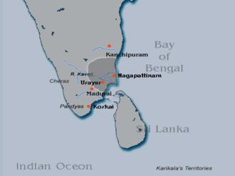 Karikala - Karikala's Territories c.180 CE