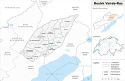 Vị trí của Huyện Val-de-Ruz