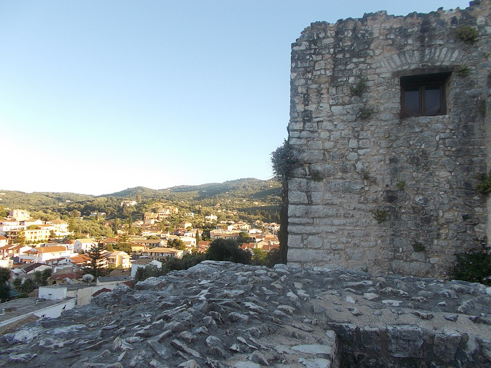 Kassiopi from the castle walls