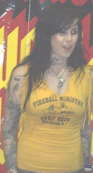 Kat Von D, of LA Ink, at the 2007 Calgary Tatt...